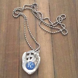 KC Royals Baseball Glove Necklace